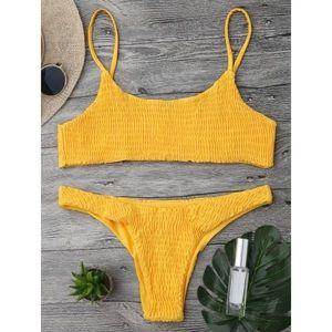 [zaful] • [smocked bikini]